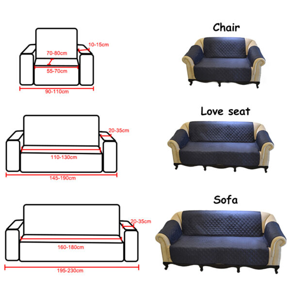 couch coat sizes